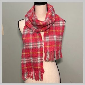 Authentic Burberry Cashmere Blend Pink Check Scarf